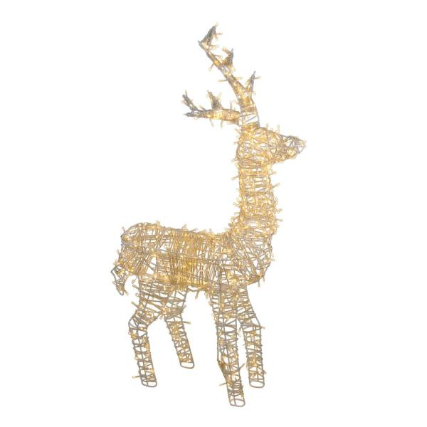 48 in. LED Lighted Upright Standing Reindeer Outdoor Christmas Decoration