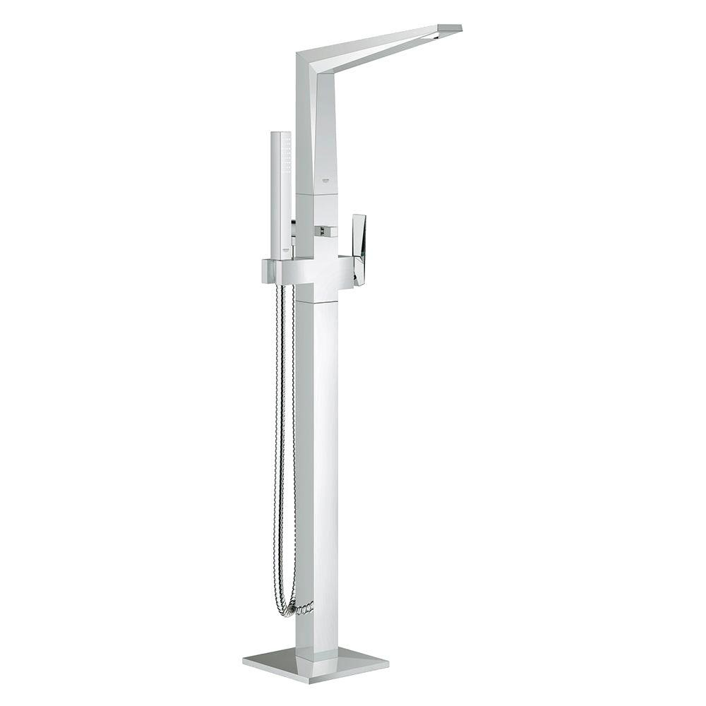 Allure Brilliant 1-Hole Floor-Mounted Tub Spout in StarLight Chrome