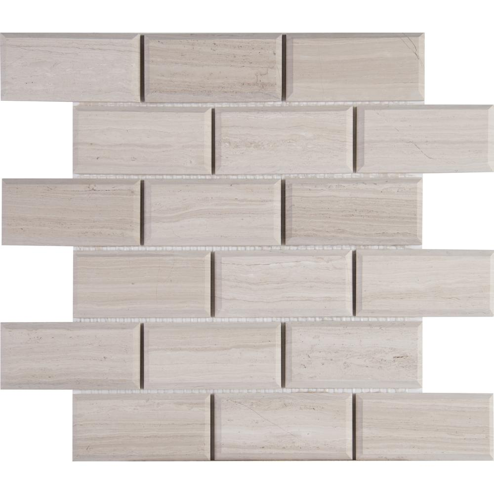 Msi White Oak 12 In X 10 Mm Honed Marble Mesh