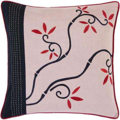 FloraG 18 in. x 18 in. Decorative Down Pillow