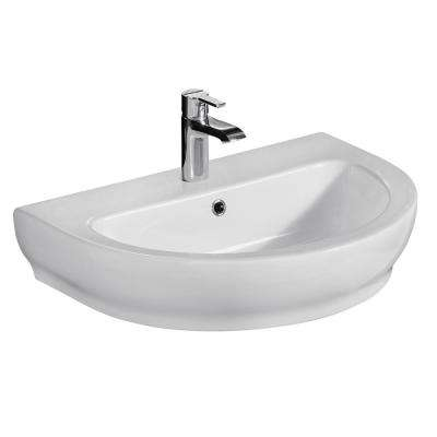 Harmony 650 25-1/2 in. Wall Hung Sink in White