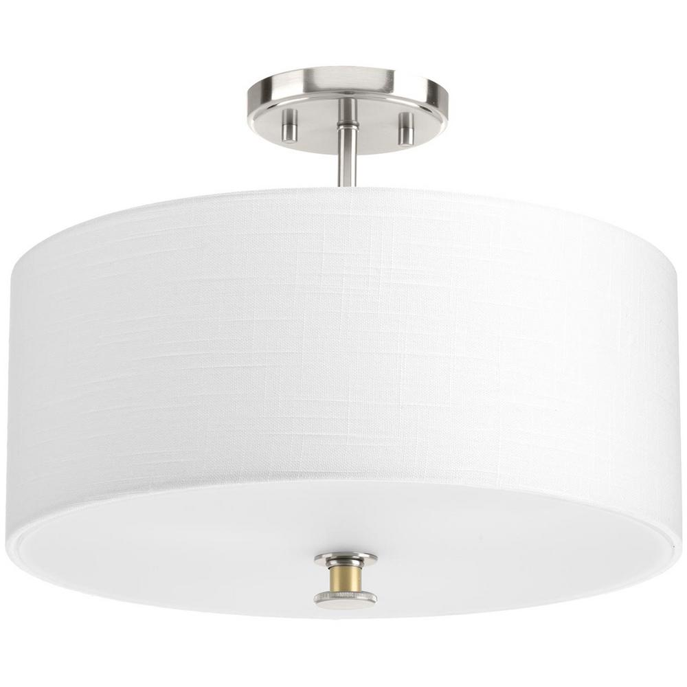 77e1537f50d Progress Lighting Cordin Collection 3-Light Brushed Nickel Semi-Flush Mount.  +2