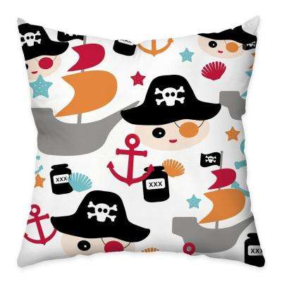 18 in. x 18 in. Ahoy Multi-colored Throw Pillow