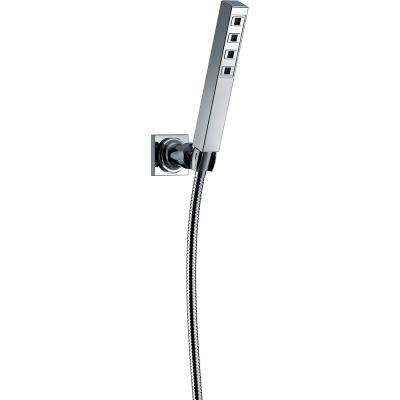 Ara 1-Spray Hand Shower with Wall Mount in Chrome Featuring H2Okinetic