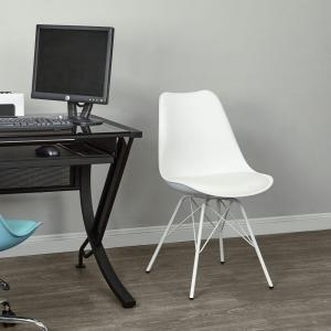 Ave Six Emerson White Student Side Chair
