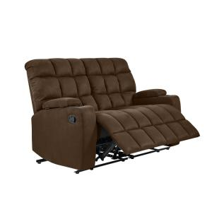 Pleasant Prolounger 2 Seat Dark Brown Microfiber Wall Hugger Storage Onthecornerstone Fun Painted Chair Ideas Images Onthecornerstoneorg