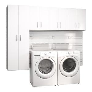 Brilliant Flow Wall Modular Laundry Room Storage Set With Accessories In White 4 Piece Fcs 9612 4W The Home Depot Interior Design Ideas Gentotryabchikinfo
