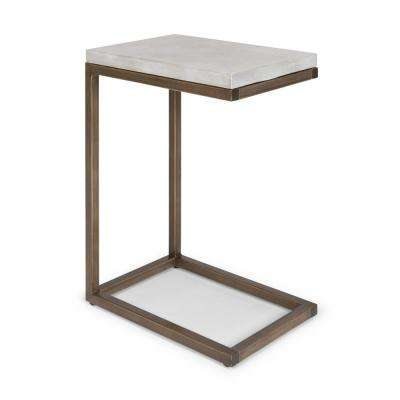 Geometric Chalky White Pull-Up Table