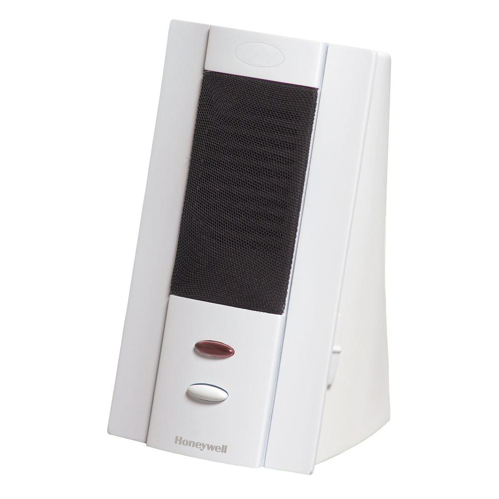 Honeywell Tabletop White Wireless Four Tune Door Chime, 150 ft ...