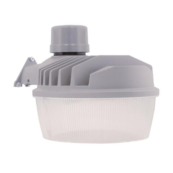 ALS 77-Watt Grey Outdoor Integrated LED Dusk to Dawn Security Area Light with Built-In Photocell, 10000 Lumens, 4000K
