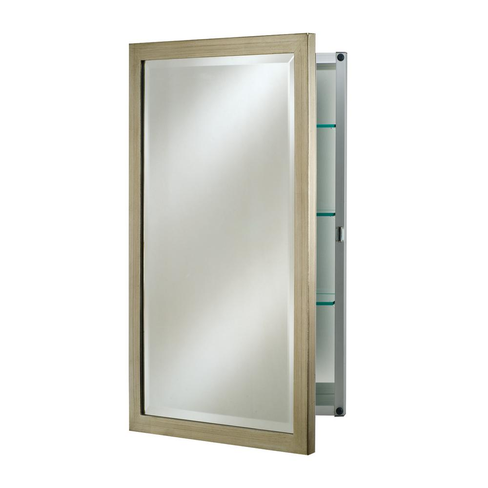 Single Door 16 in. x 26 in. Recessed Medicine Cabinet Basix