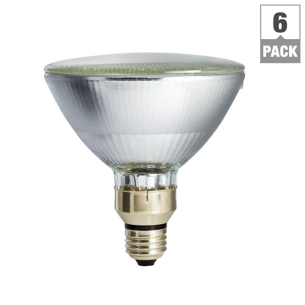 120-Watt Equivalent PAR38 Halogen Indoor/Outdoor Long Life Floodlight Bulb (6-Pack)
