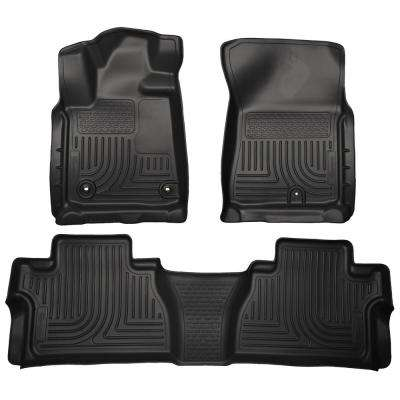 Front & 2nd Seat Floor Liners Fits 14-18 Tundra CrewMax Cab