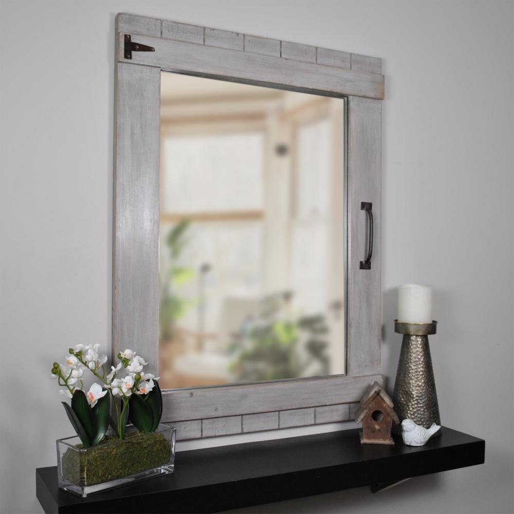 Weathered Barn Mirror