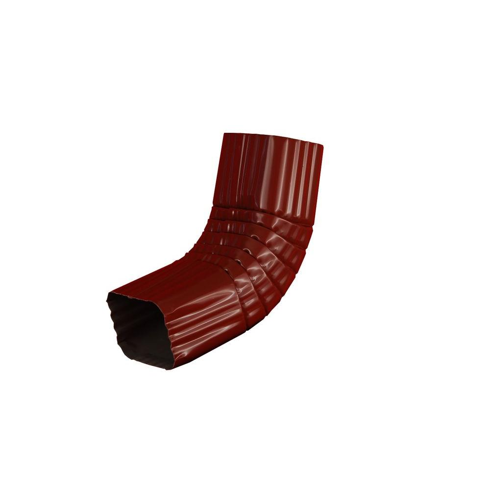 Amerimax Home Products 3 in. x 4 in. Red Aluminum Downspout A Elbow