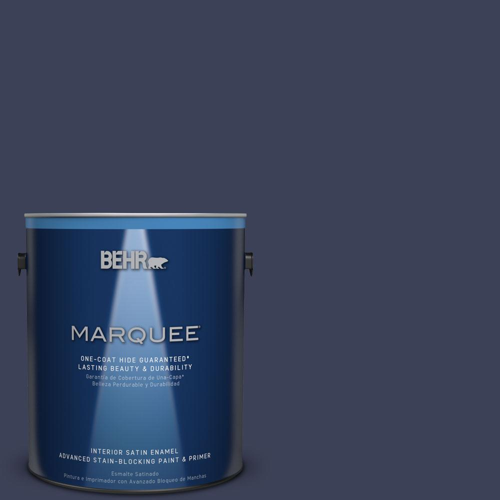 1 gal. #T16-10 Blue Vortex Interior Satin Enamel Paint