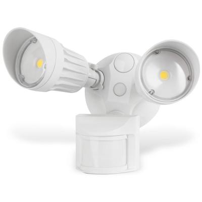 Security Light 20-Watt 180-Degree White Motion Activated Outdoor Integrated LED Flood Light