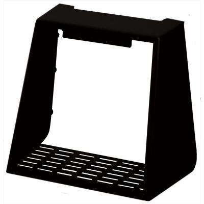 4 in. Hooded Vent Small Animal Guard #002-Black