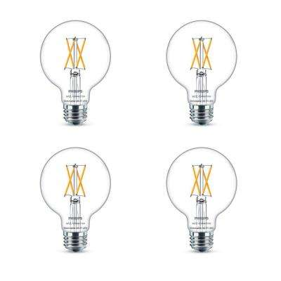 Soft White G25 LED 40-Watt Equivalent Dimmable Smart Wi-Fi Wiz Connected Wireless Light Bulb (4-Pack)