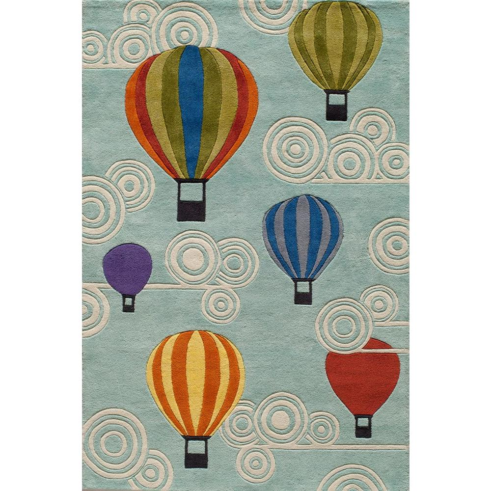 Momeni Caprice Hot Air Balloons Blue 2 ft. x 3 ft. Indoor Area Rug