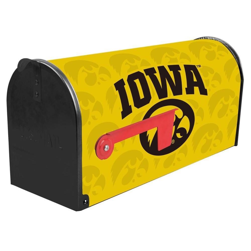 Sainty International Yellow Post Mount University of Iowa Mailbox