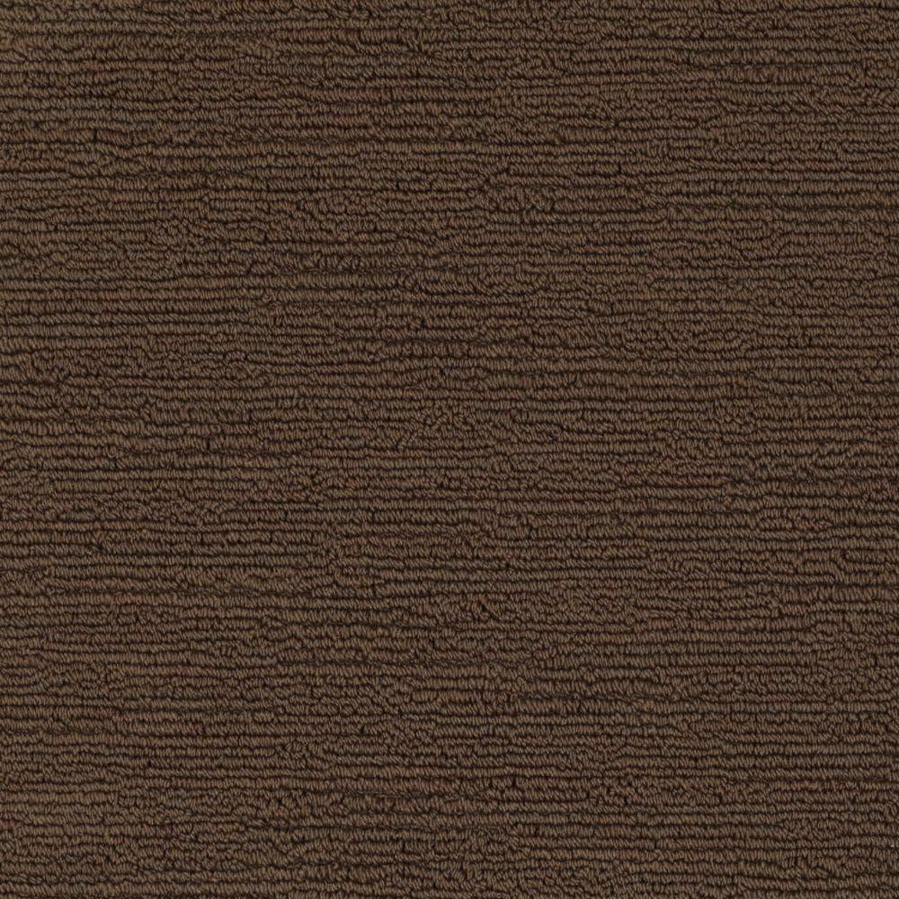 SoftSpring Carpet Sample - Majestic I - Color Weathered Wood Loop 8 in. x 8 in.