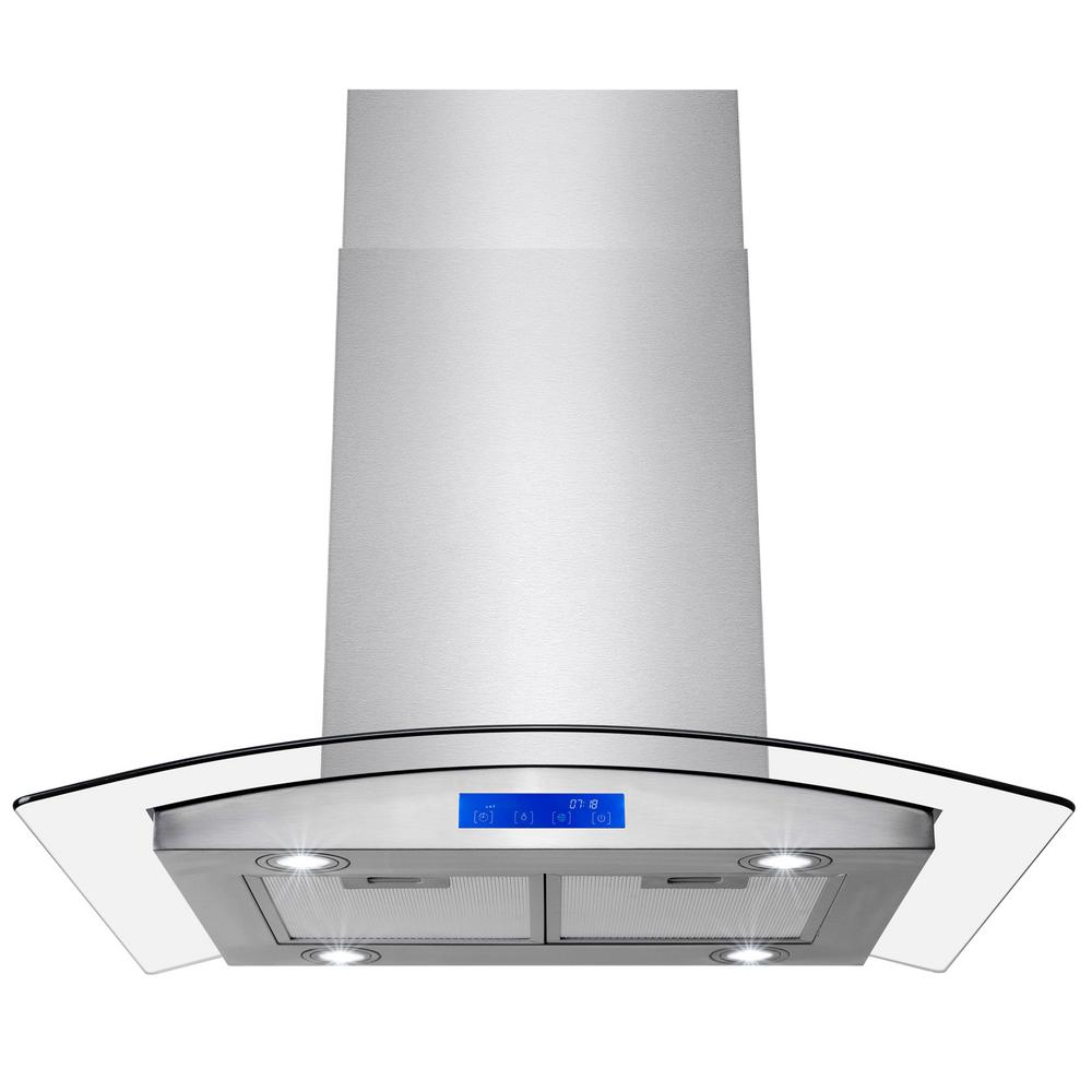 Golden Vantage 30 In 343 Cfm Convertible Island Mount Range Hood With Leds And Touch