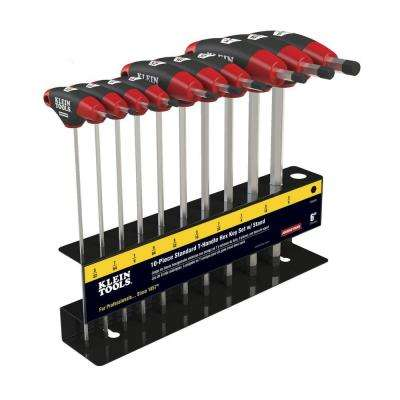 6 in. Journeyman SAE T-Handle Set with Stand (10-Piece)