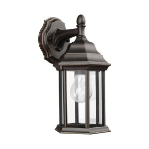 Sevier 1-Light Antique Bronze Outdoor 12.5 in. Wall Lantern Sconce