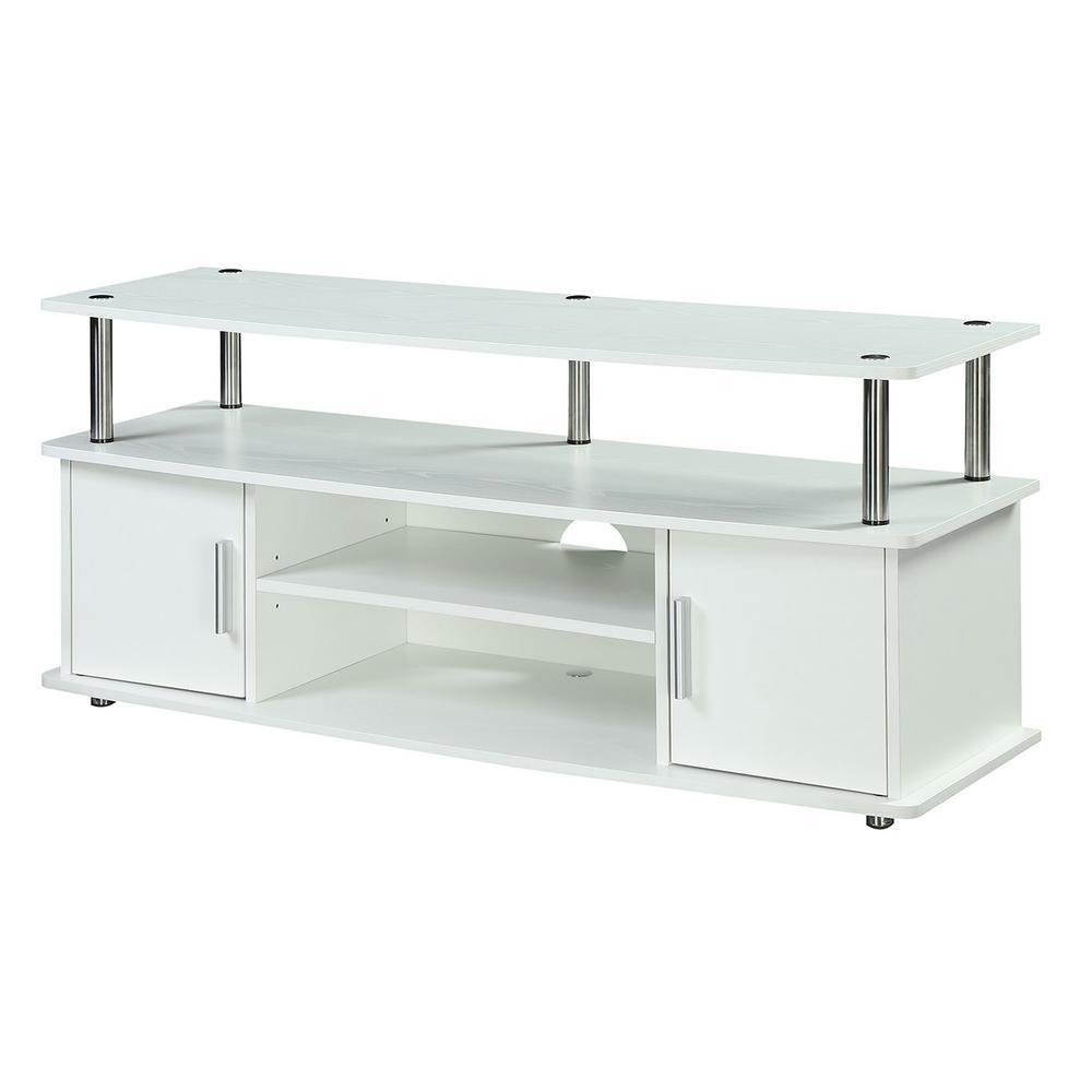 Designs2Go Monterey White TV Stand