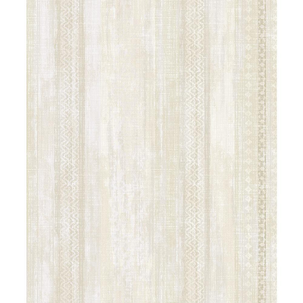 57.8 sq. ft. Blair Yellow Ikat Stripe Wallpaper