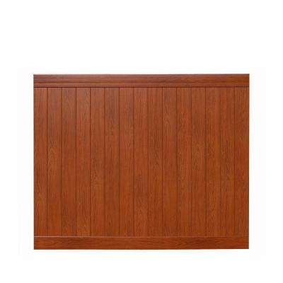 Pro Series 6 ft. H x 8 ft. W Rosewood Vinyl Anaheim Privacy Fence Panel