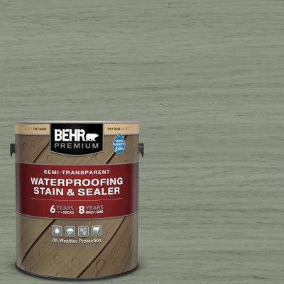 1 gal. #ST-143 Harbor Gray Semi-Transparent Waterproofing Exterior Wood Stain and Sealer