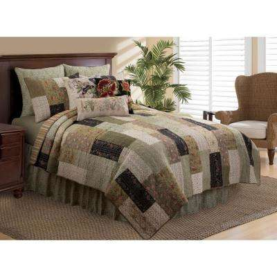 Green Jupiter King Quilt Set