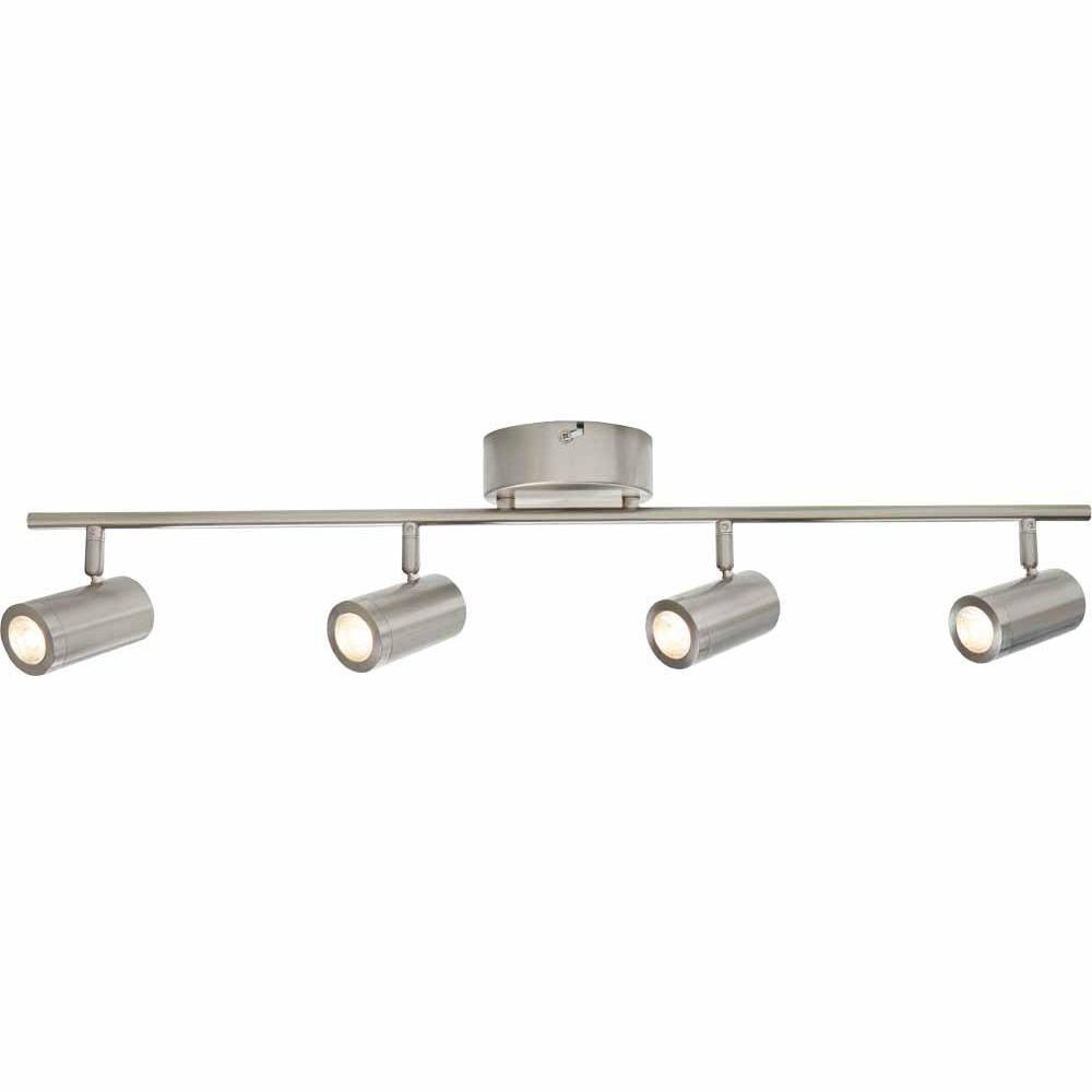 official photos 3fe2e 94c64 Hampton Bay 2.47 ft. 4-Light Brushed Nickel Integrated LED Track Lighting  Kit