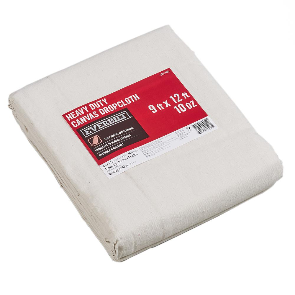 Everbilt 8 ft. 9 in. x 11 ft. 9 in. 10 oz. Canvas Drop Cloth