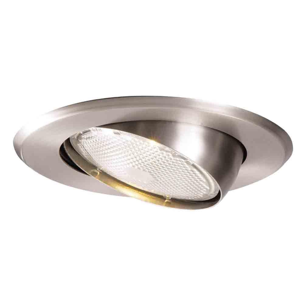 5070 Series 5 in. Satin Nickel Recessed Ceiling Light Trim with Adjustable Eyeball