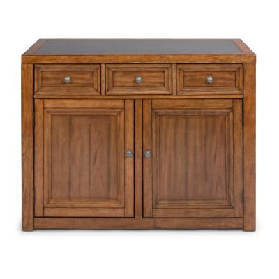 Sedona Toffee Brown Quartz Top Kitchen Island