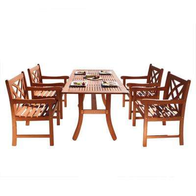 Malibu Wood 5-Piece Outdoor Dining Set