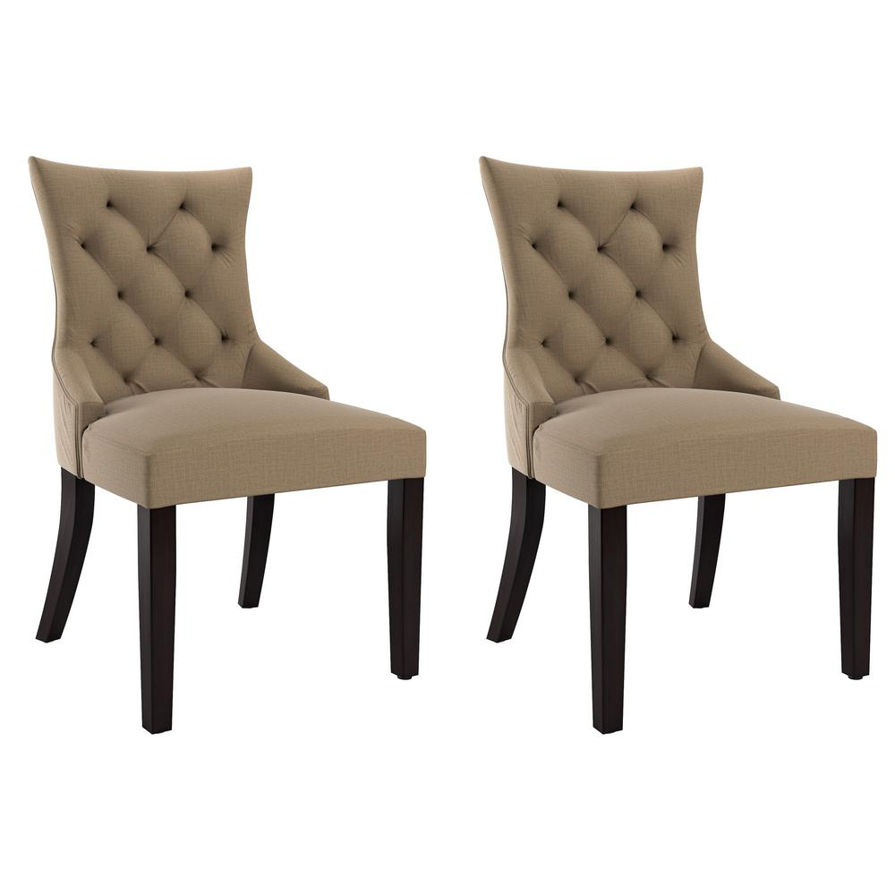 CorLiving Antonio Beige Fabric Accent Chair (Set Of 2)