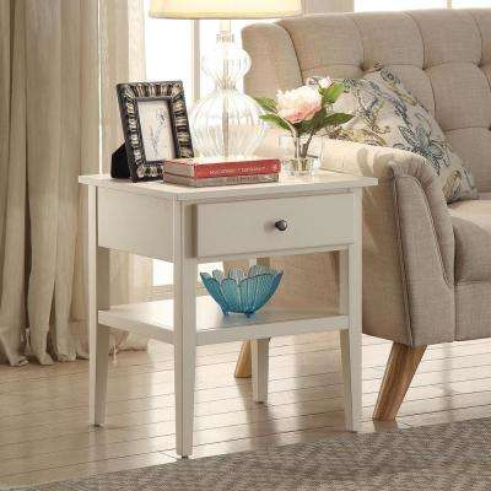 Arbor White Side Table