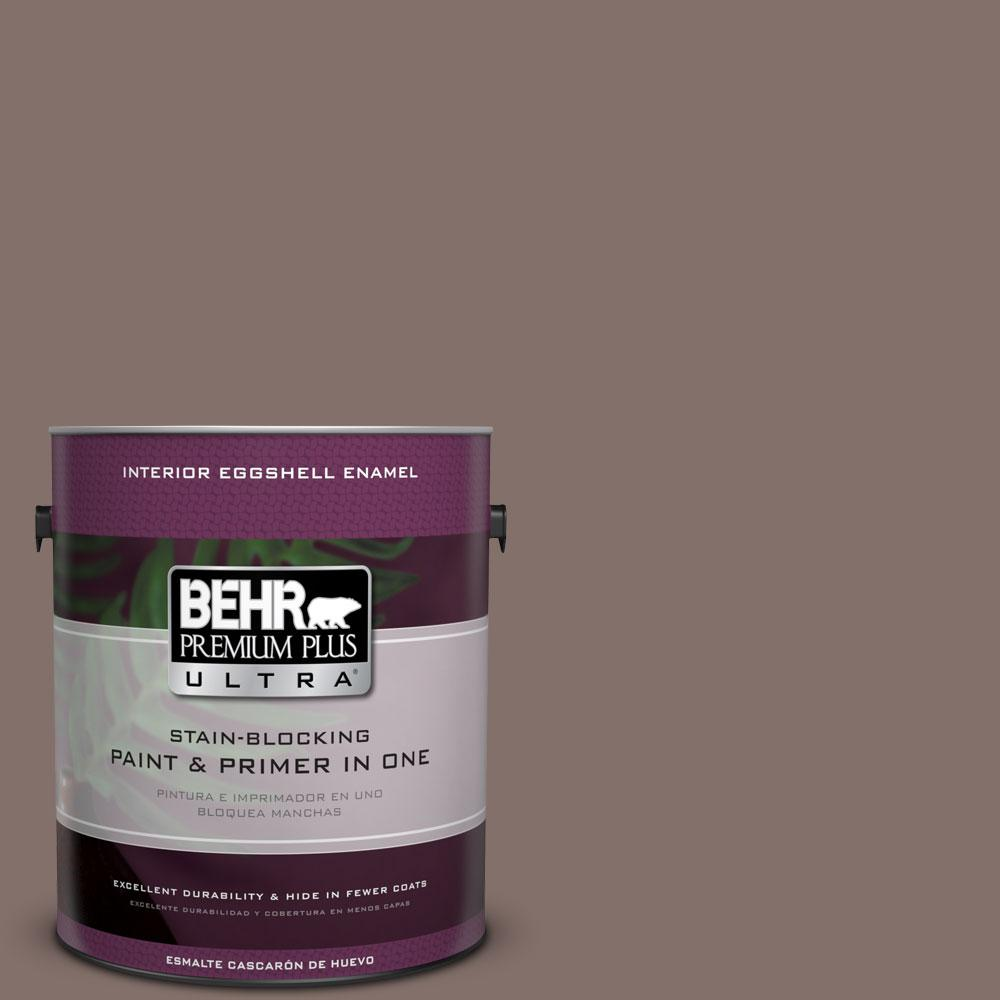 BEHR Premium Plus Ultra 1-gal. #740B-5 Bradford Brown Eggshell Enamel Interior Paint