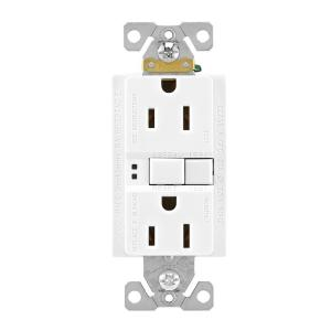 Eaton Gfci Self Test 15a 125v Duplex Receptacle With Standard Size