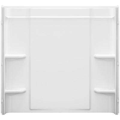 Ensemble Alcove 60 in. x 30 in. x 55 in. Fixed 3-Piece Direct-to-Stud Tub Surround in White