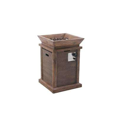 Wausau 19.7 in. Brown Fire Pit