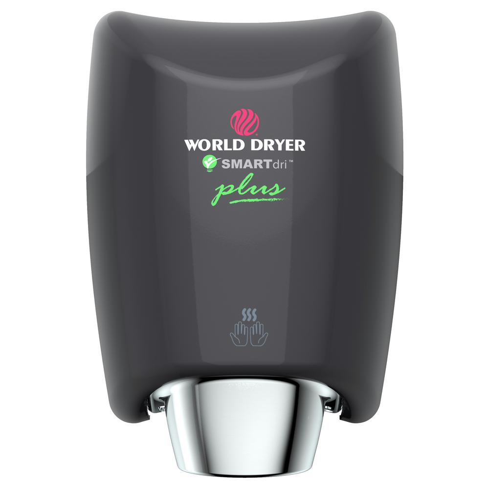 WORLD DRYER SMARTdri Plus Electric Hand Dryer in Black WORLD DRYER SMARTdri Plus Electric Hand Dryer in Black