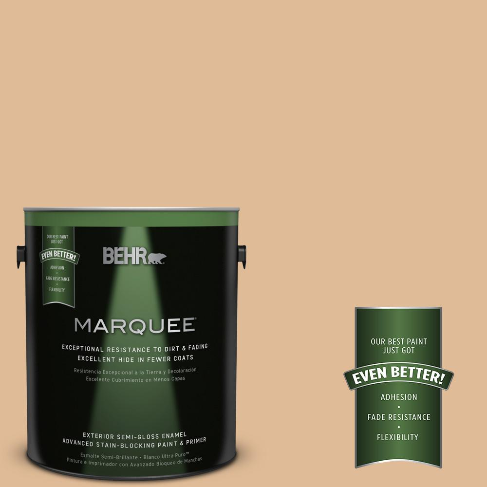 BEHR MARQUEE 1-gal. #S250-3 Honey Nougat Semi-Gloss Enamel Exterior Paint