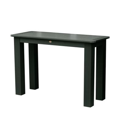 Charleston Green Rectangular Recycled Plastic Outdoor Balcony Height Dining Table