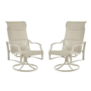 Statesville Shell Swivel Outdoor Lounge Chair (2-Pack)