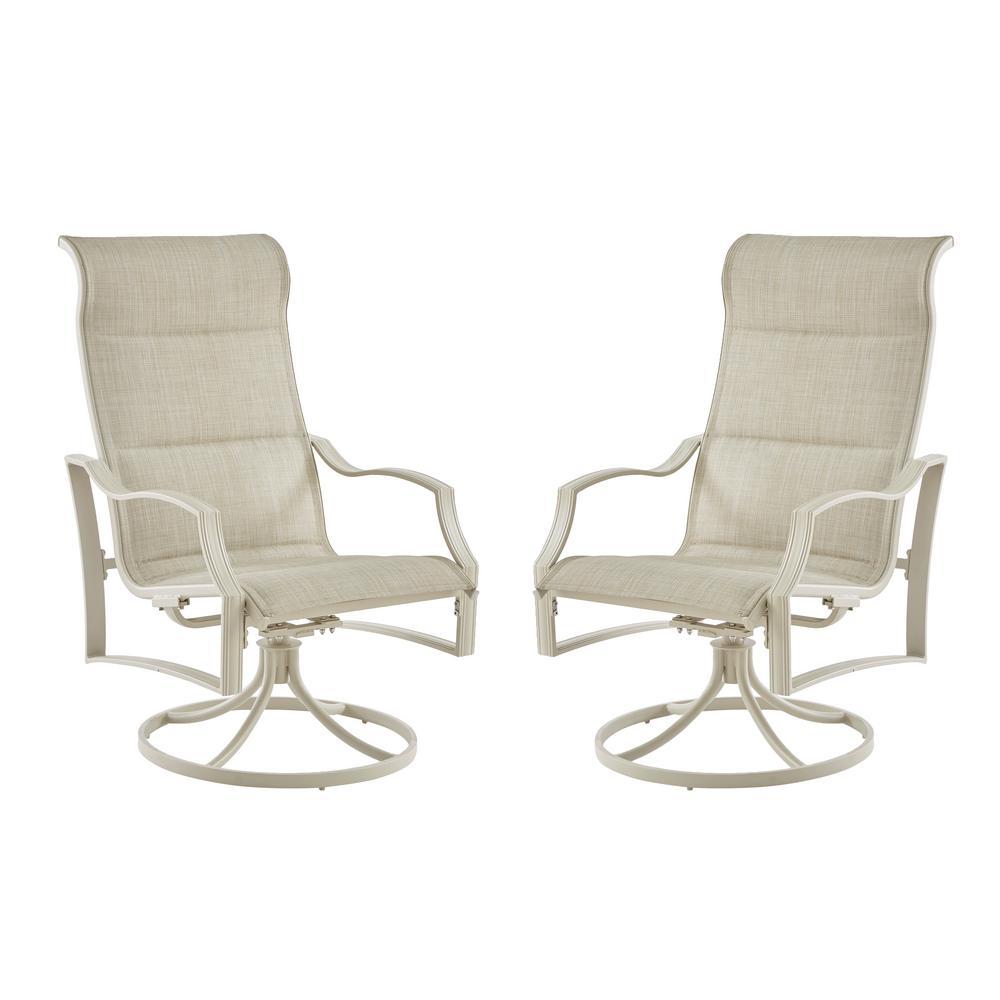 statesville shell swivel aluminum sling outdoor lounge chair